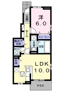 メゾンK・桜坂 間取り図